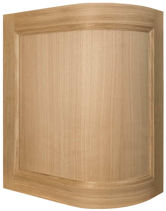 Oak Curved Door, Convex Kitchen Door, Bespoke Kitchen Door, Curved Door