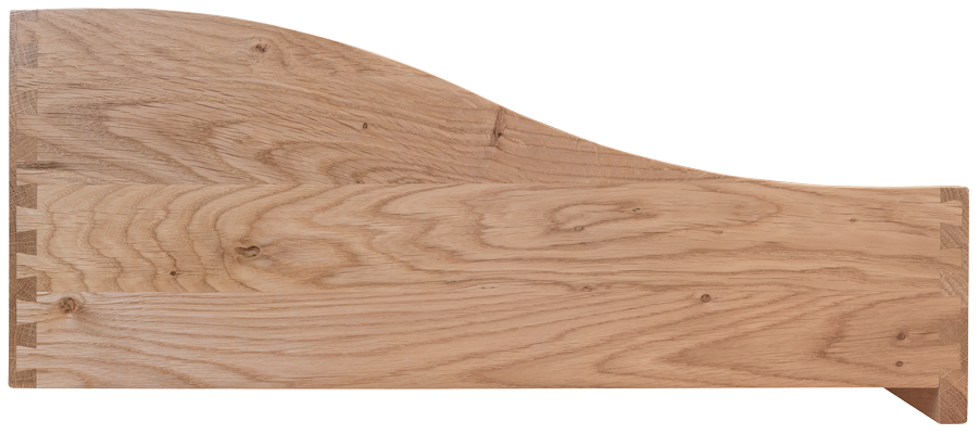 Oak Dovetailed Drawer, Dropped Front, Shaped Dovetailed Drawer, Dovetail, Oak Drawer Box
