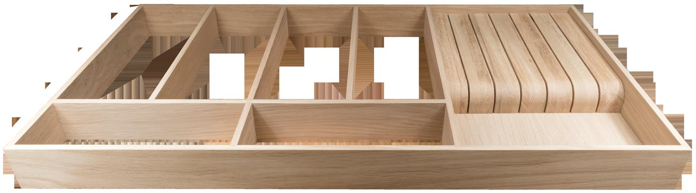 Oak Drawer Insert with Knife Block