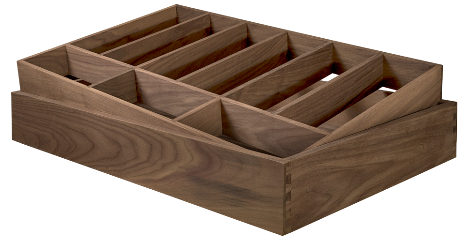 Walnut Drawer Insert, Cutlery, Wooden Drawer Insert, Drawer Box Organiser, Drawer insert organiser
