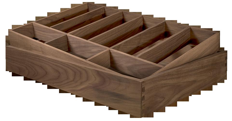 Walnut Drawer Insert, Cutlery, Wooden Drawer Insert, Drawer Box Organiser, Drawer insert organiser