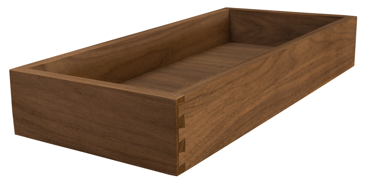 Walnut Drawer Box, Drawer Storage, Dovetail, Dovetailed Drawer Box